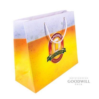 Бумажный пакет с логотипом фото