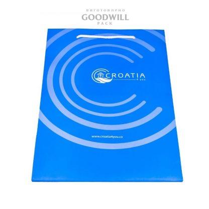 Бумажный пакет с печатью логотипа фото