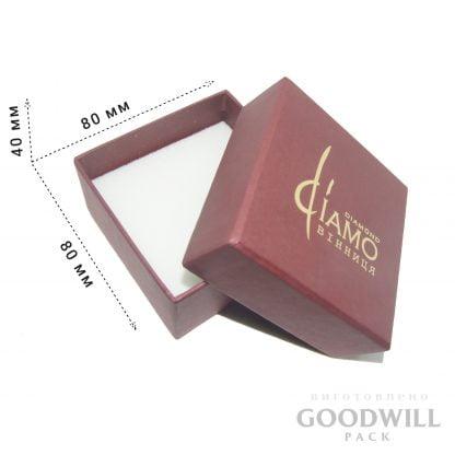 Коробка дизайнерский картон с тиснением логотипа фото
