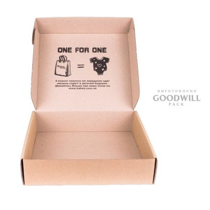 Коробка для детской одежды, изготовленная по индивидуальному заказу для интернет-магазина Balala
