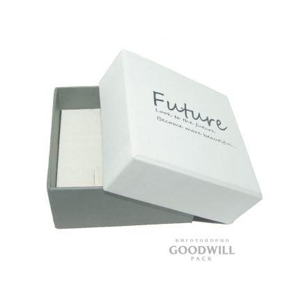 Коробка для украшений с ложементом флок