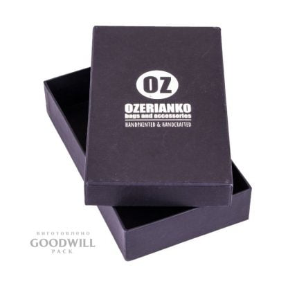 Коробка із переплетеного картону для прикрас фото