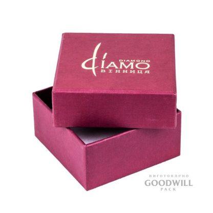 Коробка із переплетеного картону з тисненням логотипу для ювелірних прикрас фото