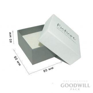 Коробка из переплётного картона для украшений
