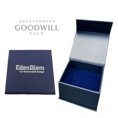 Коробка на магнитной ленте для украшений - Коробка на магнітній стрічці для прикрас з логотипом