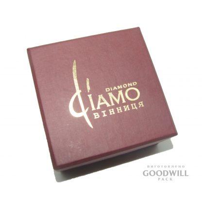 Коробка с логотипом тиснение золотой фольгой