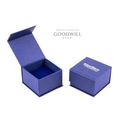 Коробка с магнитной лентой из переплетного картона для ювелирных украшений