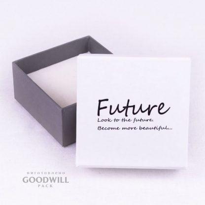 Коробка з пресованого (переплетеного) картону з логотипом фото