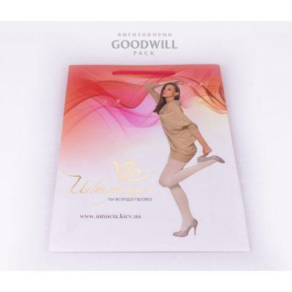 Пакет бумажный для одежды с печатью