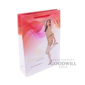 Пакет для одежды из мелованной бумаги с логотипом