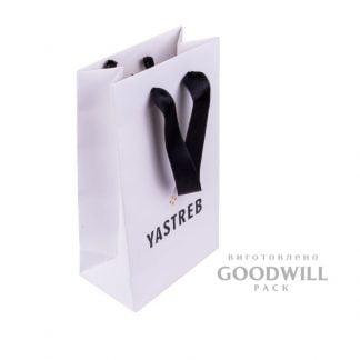 Пакет из бумаги для украшений с логотипом фото