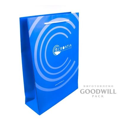 Пакет из бумаги с печатью логотипа
