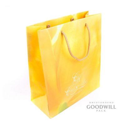 Пакет, изготовленный по индивидуальному заказу для ювелирного бренда Наталья Спиженко
