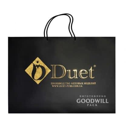 Пакет картонний для одягу з логотипом