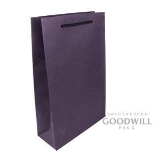 Пакет картонный для ресторана из дизайнерского картона