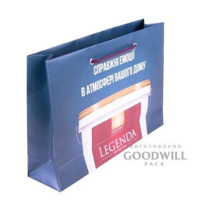 Пакет мелованный с печатью логотипа фото