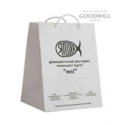 Пакет паперовий для ресторану - Пакет бумажный для ресторана