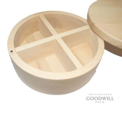 Изготовление деревянных коробок круглых на заказ