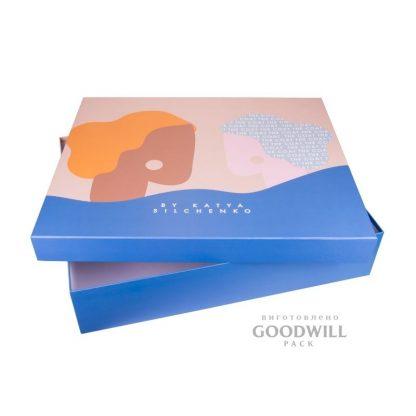 Коробка для одежды, изготовленная по индивидуальному заказу для бренда the Coat by Katya Silchenko