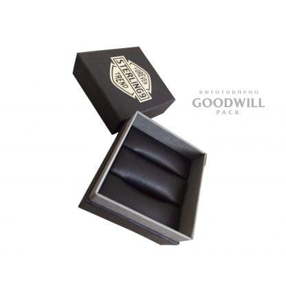 Коробка двойное дно для ювелирных украшений с логотипом