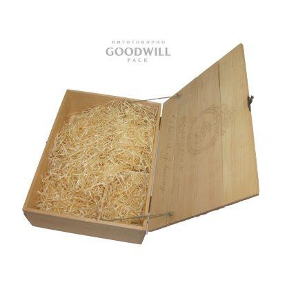 Ложемент в деревянную коробку декоративная солома стружка