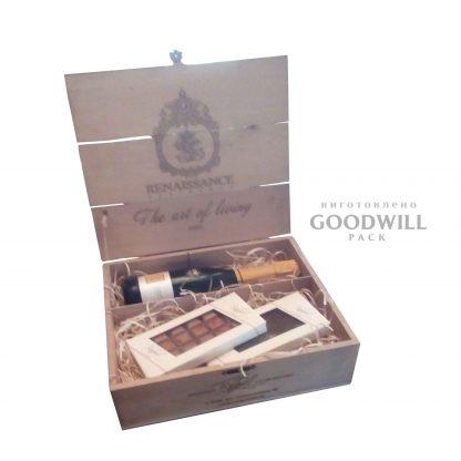 Деревянная коробка для вина - Дерев'яна коробка дли вина