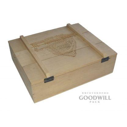 Деревянная коробка с логотипом на заказ