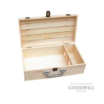 Коробка з дерева для вина дуб
