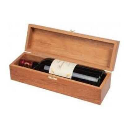 Коробка для вина з гравіюванням дерев'яна