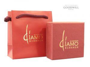 Брендированные пакет и коробка для украшений с нанесением логотипа