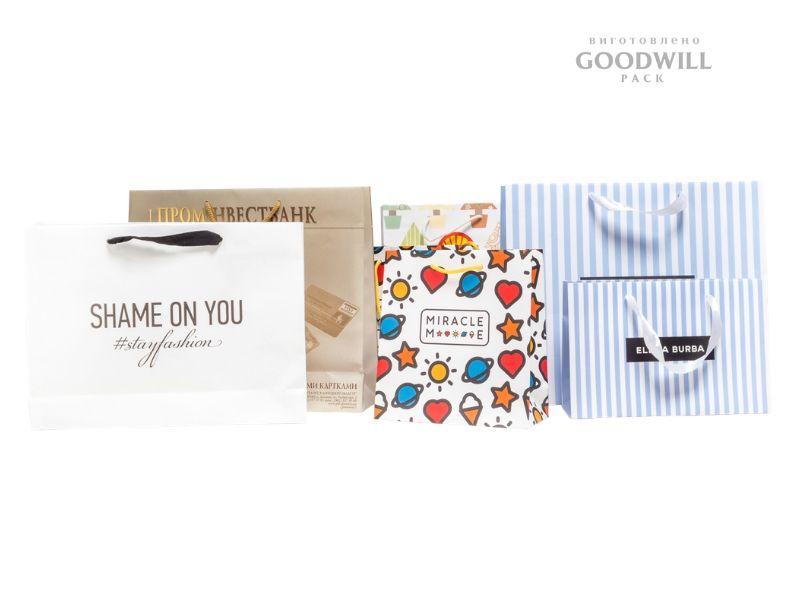 Пакеты с логотипом по индивидуальному заказу с печатью логотипа