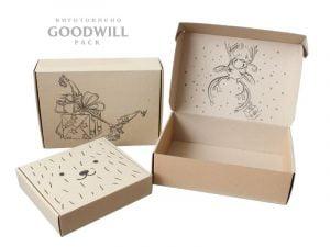 Изготовленные на заказ коробки из гофрокартона для одежды