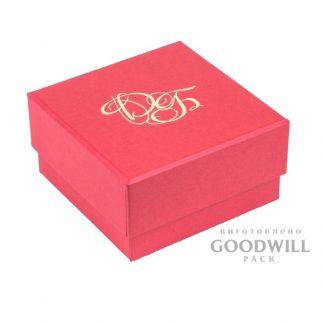 Брендированная коробка с тиснением логотипа для бижутерии