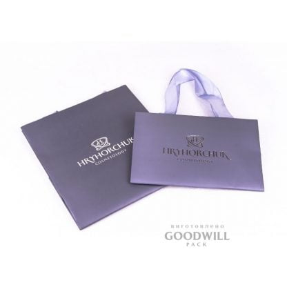Бумажные пакеты с печатью логотипа фото