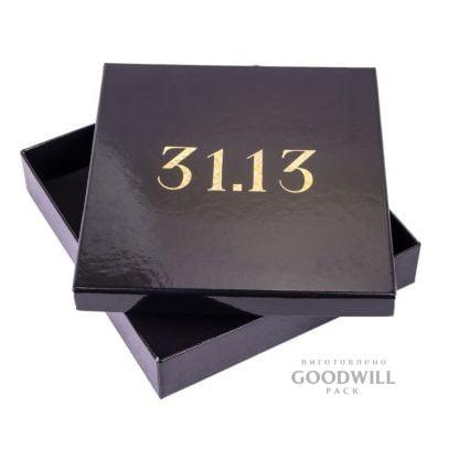 Коробка із переплетеного картону з тисненням логотипу голографічною фольгою для ювелірних прикрас фото