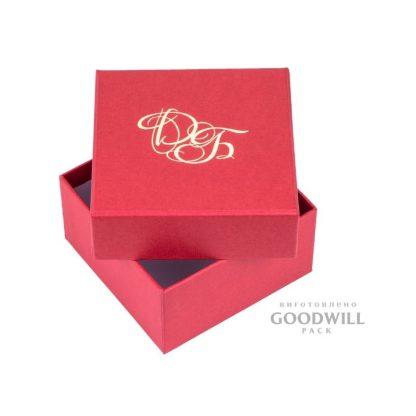Коробка из переплетного картона с тиснением логотипа, изготовленная по индивидуальному заказу фото