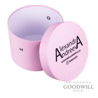 Коробка круглая с логотипом для салона Аlexandra Аndreeva фото