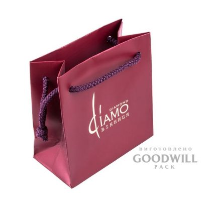 Пакет брендированный для ювелирных украшений фото