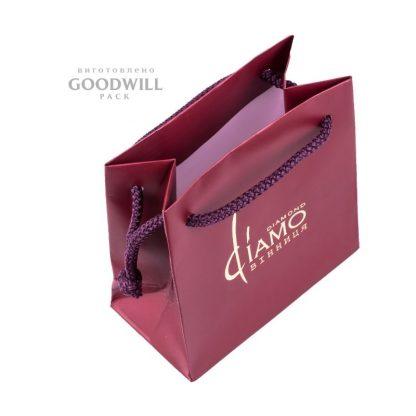 Пакет брендований для ювелірних прикрас з логотипом фото