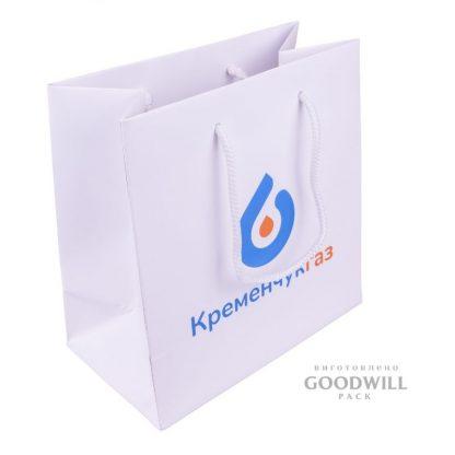 Пакет паперовий з логотипом для корпоративних цілей