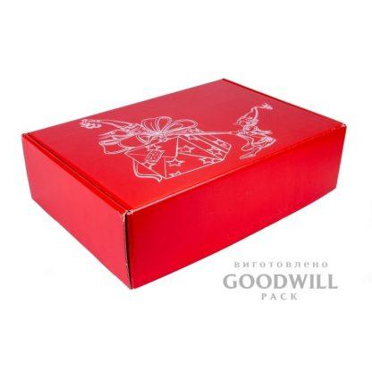 Брендированная коробка из микрогофрокартона подарочная фото