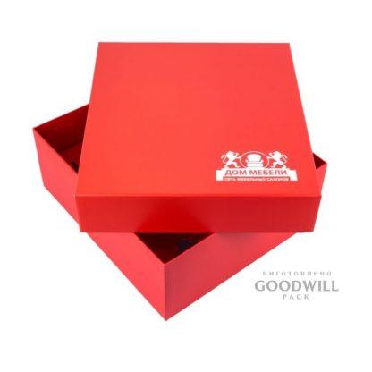 Брендированная коробка с печатью логотипа фото
