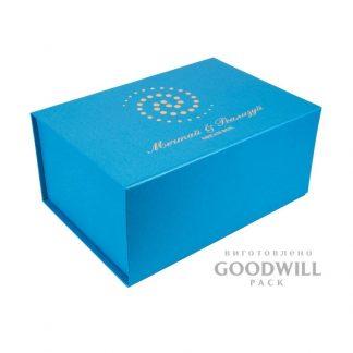 Фирменная коробка с логотипом магнитная лента фото