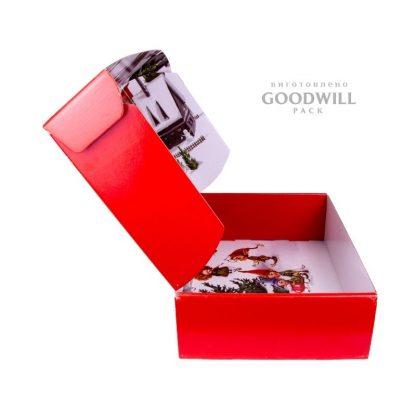 Форма коробки самосборная с откидной верхом фото