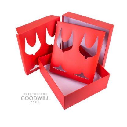 Коробка брендированная для бокалов фото