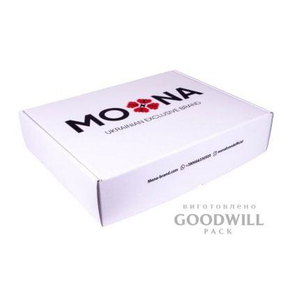 Коробка брендированная из микрогофрокартона с печатью логотипа фото
