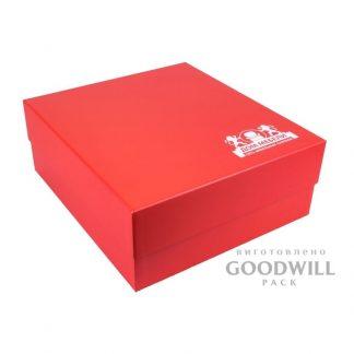 Коробка брендированная из переплетного картона с высечным ложементом фото