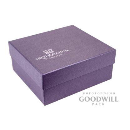Коробка с логотипом дизайнерская бумага фото