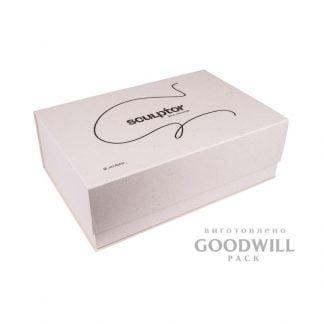 Коробка с логотипом для подарков с магнитным клапаном фотол