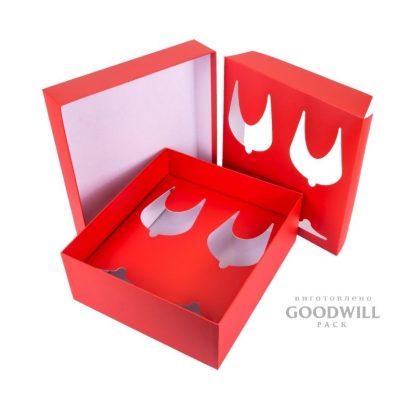 Коробка с ложементом для бокала фото